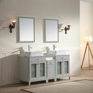 "Julie Vanity Set 60"" AAJU-6004 Light Grey"
